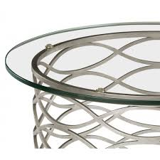 jonathan charles furniture contemporary glass side table silver