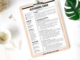 Resume Template Alexandra Carr