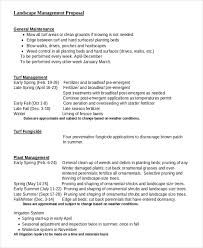 landscape maintenance proposal template 6 landscaping proposal examples samples word pdf examples
