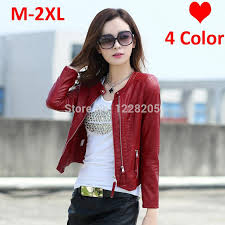 2018 whole hot faux leather women coats womens leather jackets spring zippers pu leather motorcycle jacket moto blazer black red pink beige from