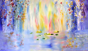 saatchi art artist ted stourton painting lilies inspired by claude monet