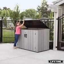 horizontal 2 550 litre storage shed