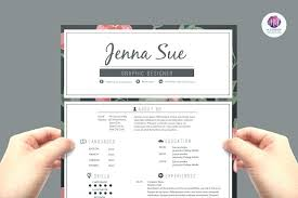 Modern Creative Resume Template Pretty Resume Template Cute Templates Free Sample Modern