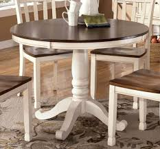 ytc image of distressed white kitchen table and