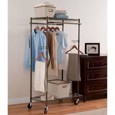 Double Coat Rack Better Homes And Gardens Double Hanging Garment Rack Bronze 16