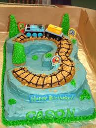 Cool Homemade Thomas The Train Birthday Cake