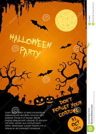 halloween template flyer halloween party flyer template orange and black stock vector