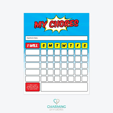 Printable Chore Chart For Boy Instant Download Boy