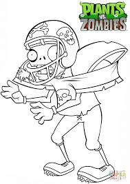 Zombie Colouring Pages Plants Vs Zombies Football Zombie Coloring