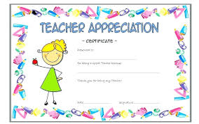 Vbs Certificate Template Thank You Teacher Appreciation Tags Free Printable