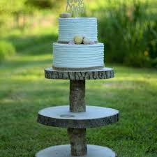 3 tiered wooden stand wood cake display