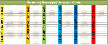 Swab Its Bore Tips Size Chart