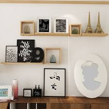 set of 6 floating wall mounted shelves display storage home decor wall shelves best canada