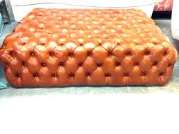 cognac leather cocktail ottoman round tufted ottomans exotic brown cog cognac leather cocktail ottoman