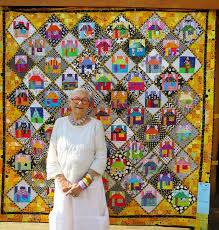 460 best House quilts images on Pinterest   Patchwork ... & Freddy Moran of Orinda CA in front of her quilt
