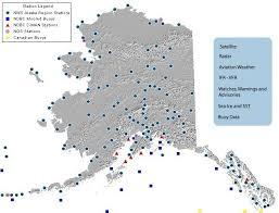 Alaska Annual Weather Chart Current Alaska Weather Map
