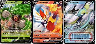 Check spelling or type a new query. Amazon Com Pokemon V Card Set Rillaboom V Cinderace V Inteleon V Holo Foil 3 Card Lot Sword Shield Starters Toys Games