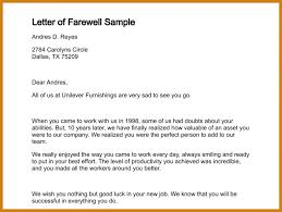 farewell letter to colleagues letter of farewell sample 241 0
