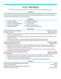 areas of expertise for customer service best customer experience manager resume example livecareer