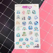 Ảnh dán trong Miku 1 tấm sticker album ảnh dán anime chibi idol dễ thương  quà tặng trang trí xinh xắn