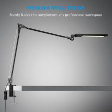 byb e476 metal architect swing arm desk lamp dimmable led task lamp with clamp