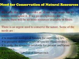 conservation of natural resources and environment 8