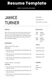 How To Make A Modern Resume In Word Modern Resume Word Easy Resume Template Creative Resume