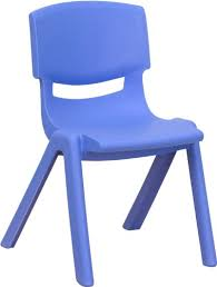 blue school chair.  Blue Flash Furniture Blue Plastic Stackable School Chair With 12u0027u0027 Seat Height For