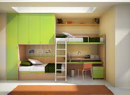 space saver furniture for bedroom. Space Saving Furniture For Small Bedrooms Feature Beige Wood Bunk Bed Along Storage Green Cabinet And Shelf Drawer Plus Study Desk Orange Saver Bedroom