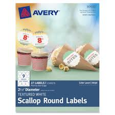 Scallop Templates Avery Scallop Round Labels Template Avery 80500 Textured Scallop