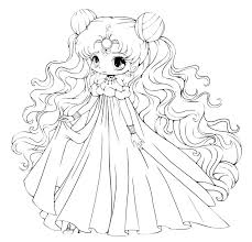 Chibi Coloring Cute Free Printable Coloring Pages Cute Chibi