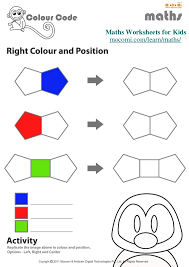 Right Colour and Position – Maths Worksheets for Kids – Mocomi.com