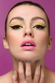 neon cat eye makeup