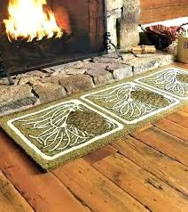fire resistant fireplace hearth rugs fireproof half round rug 4 charcoal guardian f