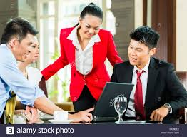 Asian women in hotel managment