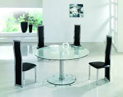 planet large round clear glass dining table modenza furniture