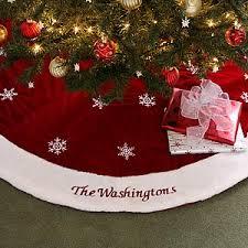 Red Velvet Personalized Christmas Tree Skirt - 6313