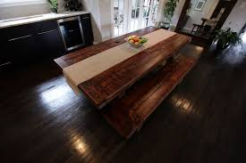 rustic kitchen table with bench. Rustic Dining Table With Bench Photo - 6 Kitchen A