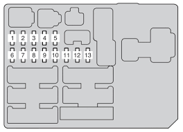 toyota hilux an10 an20 an30 2011 2013 fuse box diagram fuse box in instrument panel driver s side front side