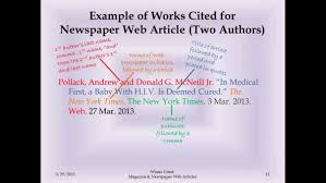 Example Work Cited Page Mla Lividrecords