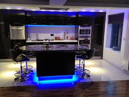 kitchen led kitchen ceiling lighting featuring white finish varnished wooden kichen cabinet island bar idea