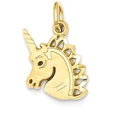 icecarats 14k yellow gold unicorn