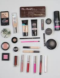 all the makeup i brought for a trip abroad