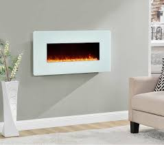 electric wall mount fireplace decor