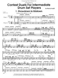 drum set sheet music contest duets for intermediate drum set players drum place