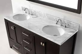 virtu usa 60 ine avenue double sink vanities round sink bathroom vanity in espresso with