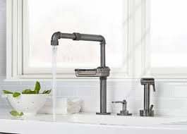 Industrial Looking Kitchen Industrial Style Faucets By Watermark To Give Your Plumbing The