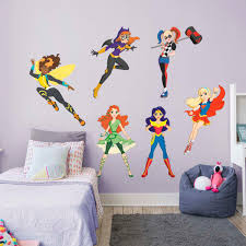 dc super hero girls hero collection x large officially licensed removable wall decals