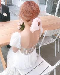 ロマンティック派にリボンアレンジが大人かわいい花嫁ヘアスタイル