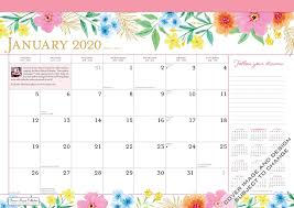 School Calendar Template 2020 17 Bonnie Marcus 2020 17 X 12 Inch Monthly Desk Pad Calendar
